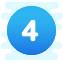 Circled 4 C icon