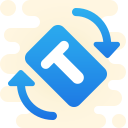 auto rotate-based-on-text icon