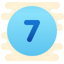 Circled 7 icon