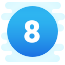 Circled 8 C icon