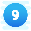 Circled 9  C icon