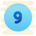 Circled 9 icon