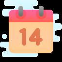 Calendar 14 icon