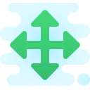 resize four-directions icon