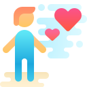 man falling in love icon