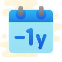 Minus 1 Year icon