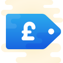 Price Tag Pound icon