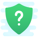 Shield With a Question Mark icon