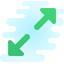 Diagonal skalieren icon