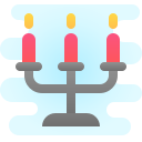 Three Light Candles Chandelier icon