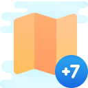 Timezone +7 icon