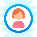 user female-circle icon