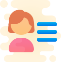 user menu-female icon