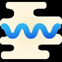 Ligne ondulée icon