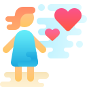 Woman Falling in Love icon