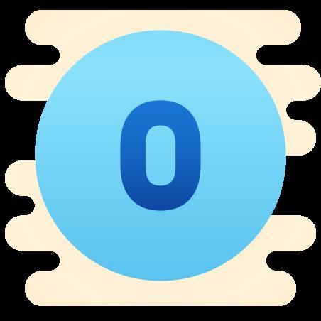 Circled 0 icon