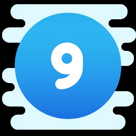 Circled 9  C icon