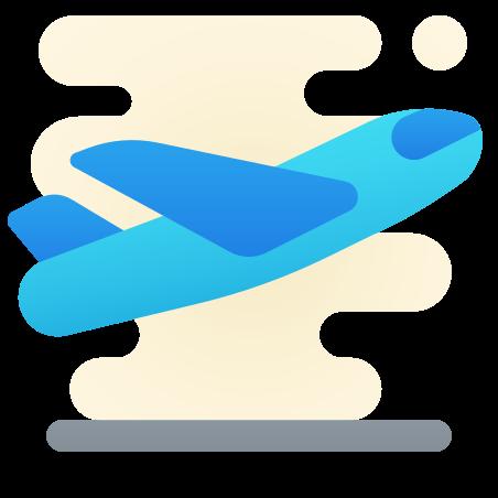 비행기 이륙 icon in Cute Clipart