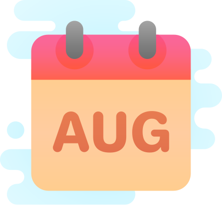 August icon in Cute Clipart