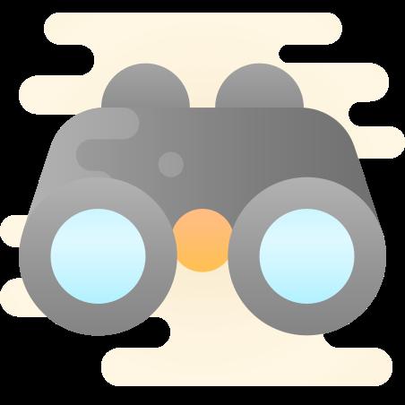 Binoculars icon in Cute Clipart