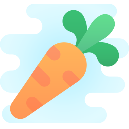 Carrot icon in Cute Clipart