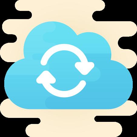 Cloud Sync icon in Cute Clipart