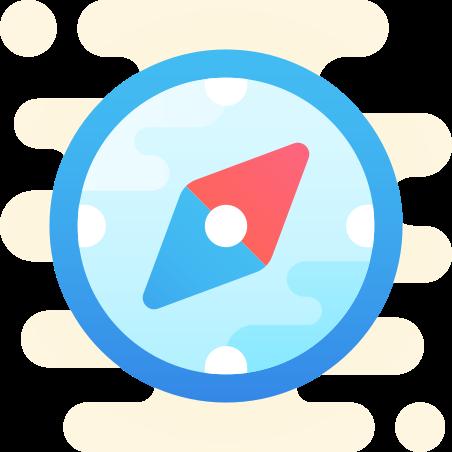 Compass icon in Cute Clipart