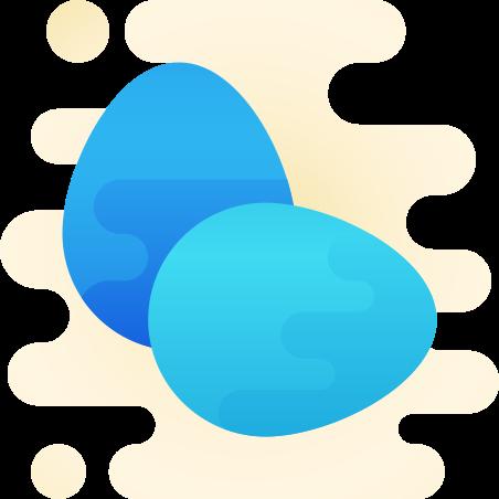 Eggs icon in Cute Clipart