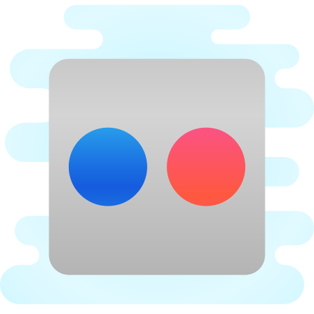 Flickr icon in Cute Clipart