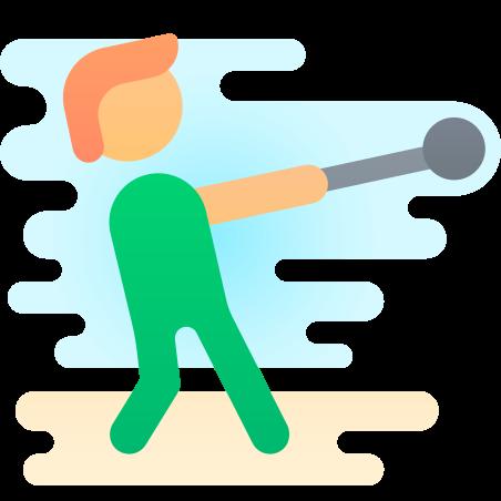 Hammer Throw icon in Cute Clipart