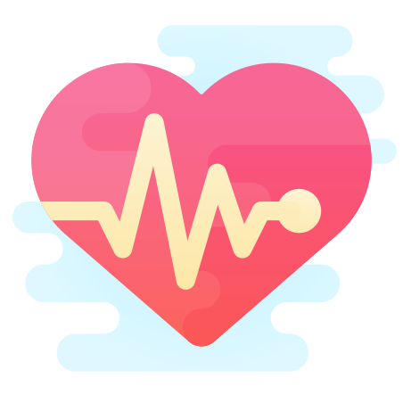 Heart with Pulse icon in Cute Clipart