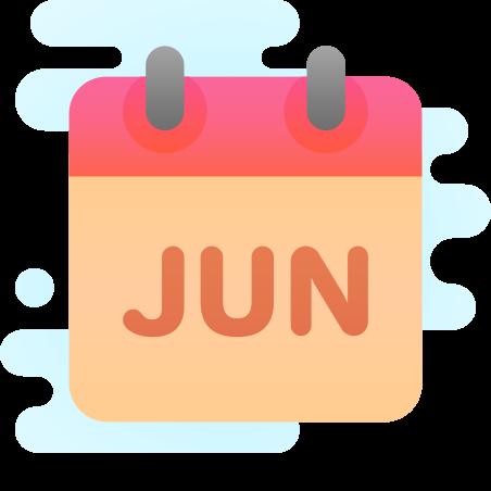 June icon in Cute Clipart