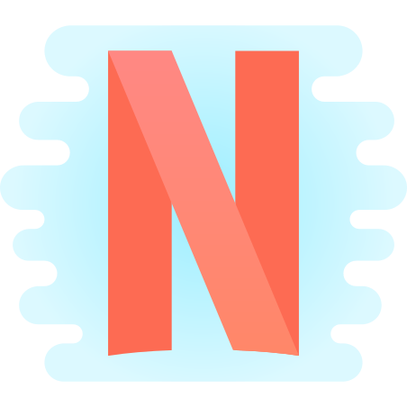 Netflix icon in Cute Clipart
