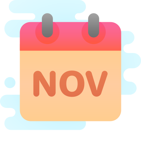 November icon in Cute Clipart