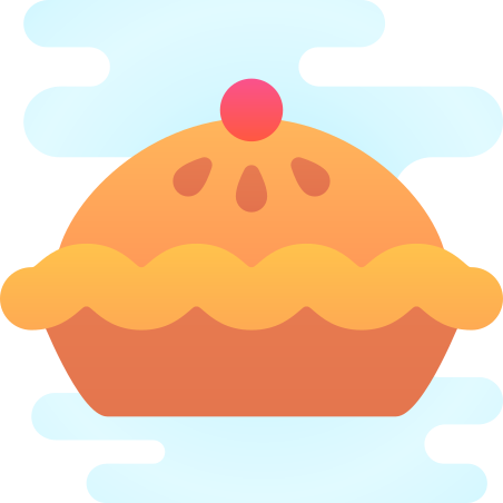 Pie icon in Cute Clipart