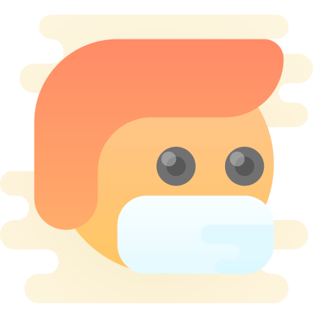 Protection Mask icon in Cute Clipart