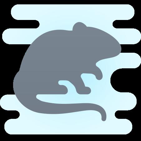 Rat Silhouette icon in Cute Clipart