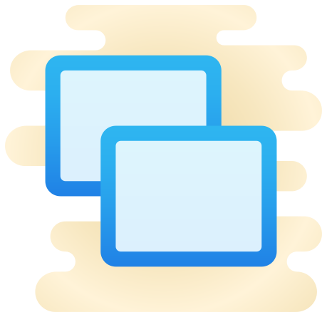 Screensharing icon in Cute Clipart