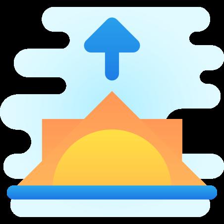 Sunrise icon in Cute Clipart