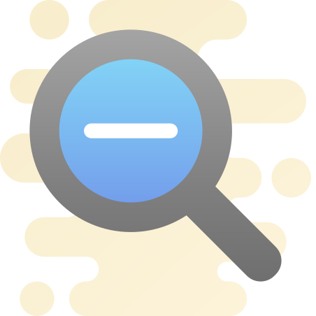 Zoom Out icon in Cute Clipart
