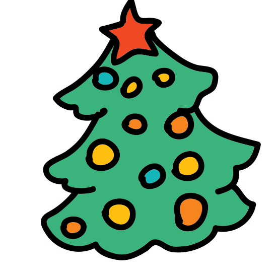Christmas Tree icon. A Christmas tree symbol is a tree that is shown with three triangles with different size, but the bottom two triangles will not have the pointy tip. The bottom of the tree will have the biggest base compared to the top. The most important part of the Christmas Tree symbol is the star right on top of the tree.