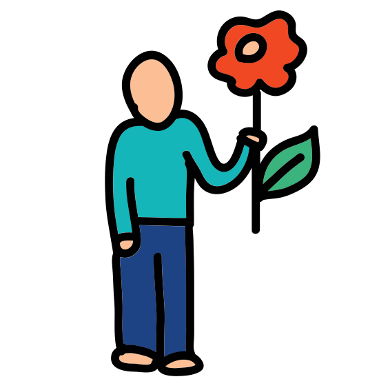 Man With Flower icon