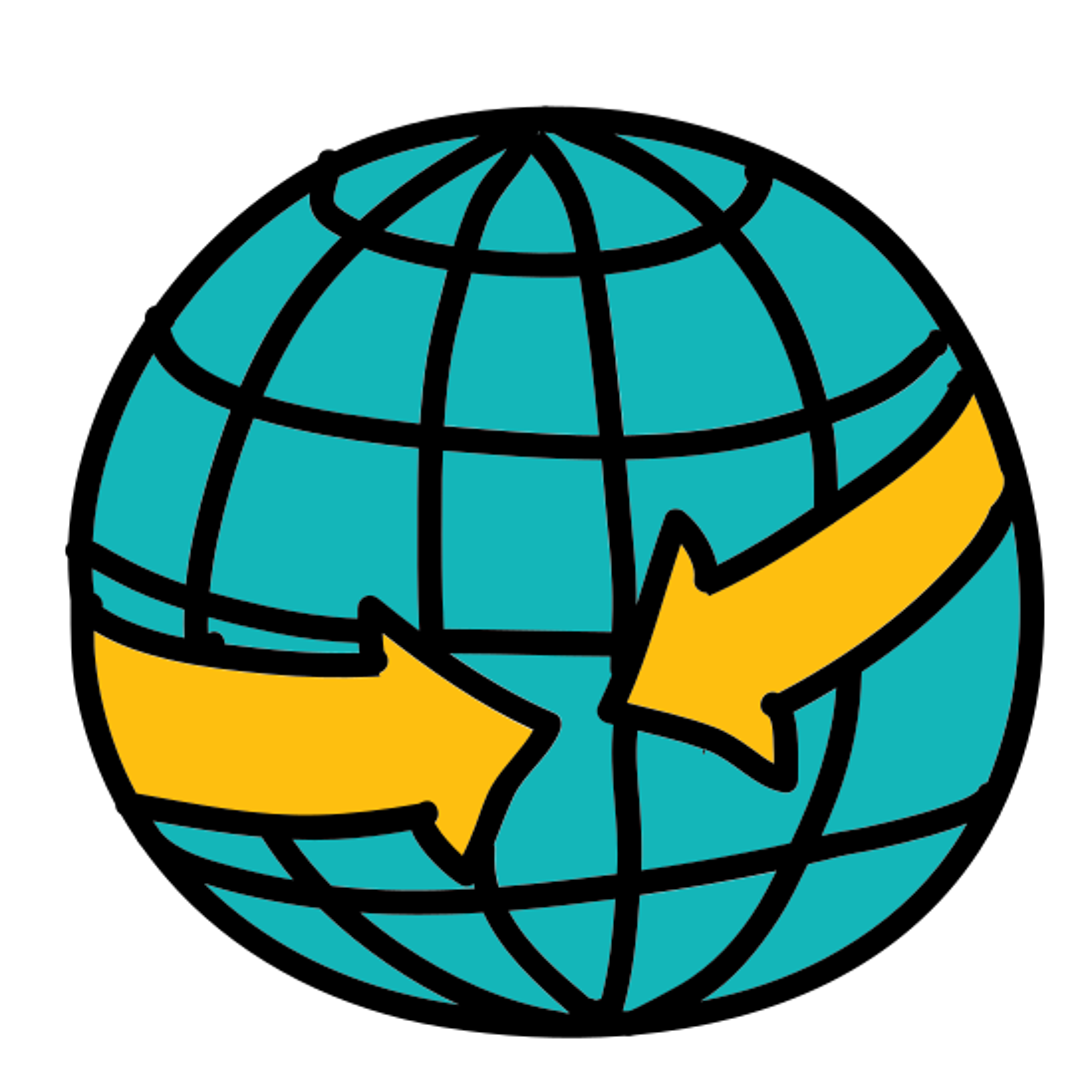 Meeting Arrows Globe icon