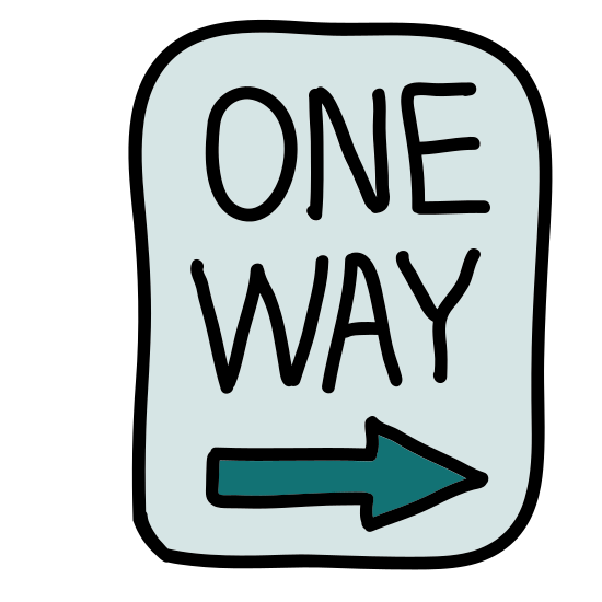 One Way Road Sign icon