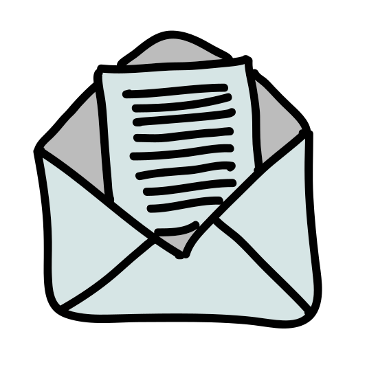 Przeczytaj wiadomość icon. When you have email messages available to read you will see a envelope with the top flap open and inside a piece of paper. This shows that you have messages available in your email inbox.