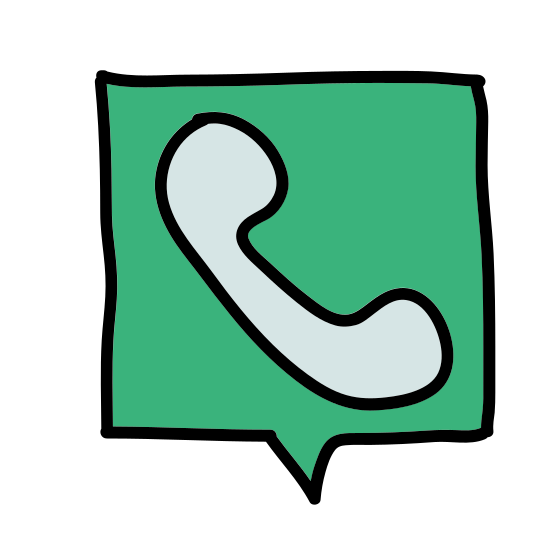 Телефон icon. The icon shows a telephone receiver that would seen in 90's model telephone. The icon of the phone receiver has a curving handle with rectangular receiver and mouth piece of equal size.