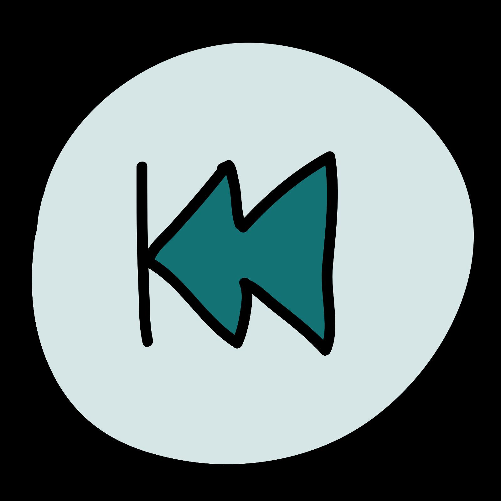Rewind Button Round icon