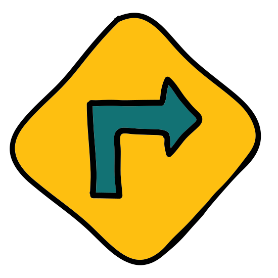 Right Turn Sign icon