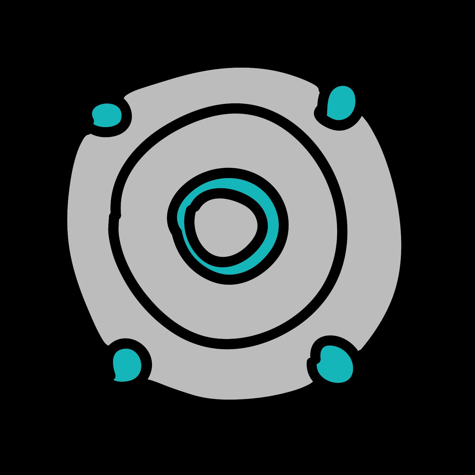 Round Digital Speaker icon