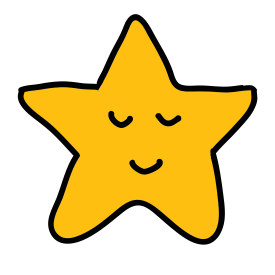Gwiazdka icon. A star has five pointed sides which are basically mini triangles all linked together at the seam. It is often seen in the sky at nighttime.